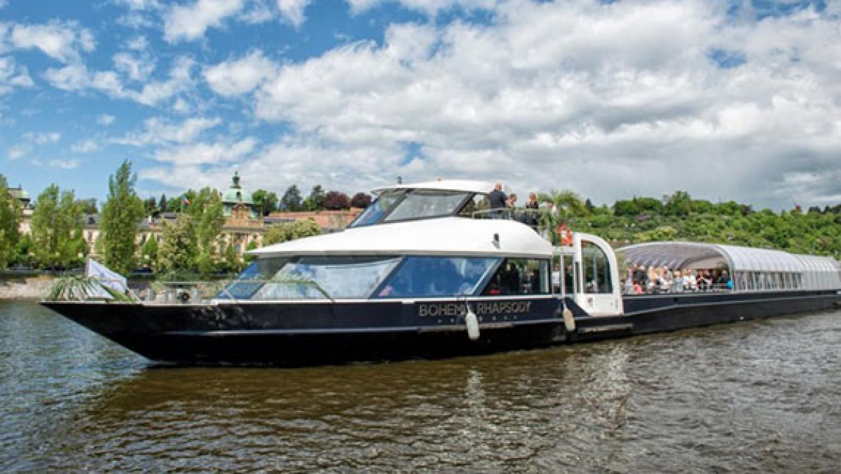 A new sightseeing boat on Vltava river